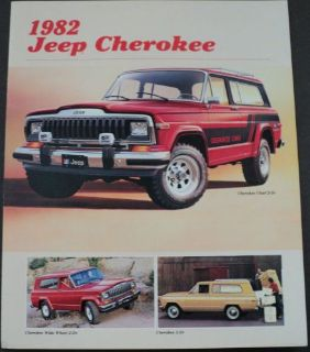 Purchase 1982 Jeep Cherokee Chief Lerado AMC Original Dealer Sales Brochure motorcycle in Holts Summit, Missouri, United States, for US $17.68