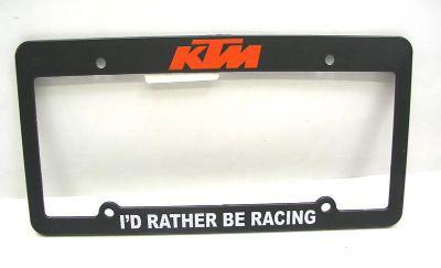 Purchase KTM450 License Plate Frame Black KTM 250 300 450 Truck Van Trailer MX Enduro motorcycle in Duncansville, Pennsylvania, US, for US $8.99