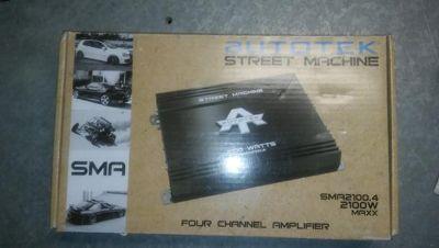 $80, Autotek Amp 2100 Watt 4 Channel