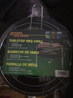 New Tabletop grill