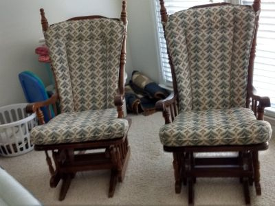 Two Glider/Rocker chairs
