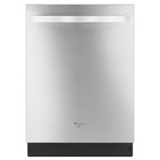 Whirlpool Top Control Built-In Dishwasher Stainless Tub and Third Rack