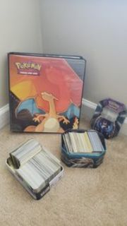 pokemon card collection and binder
