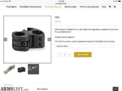 For Sale: Flashlight Mount