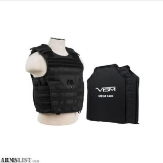 """For Sale: NC Star Tactical Vest with VISM 10"""" x 12"""" Shooter Cut Plates"""