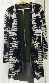 NWOT High Low Duster Cardigan Size Small