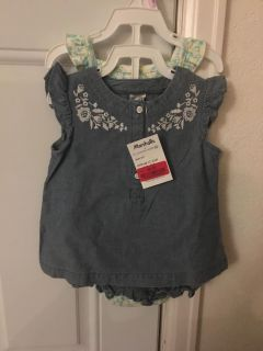 NWT 3 piece shorts and top