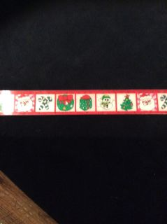 EEUC Christmas ruler when it moves the images change and multiplication table on back