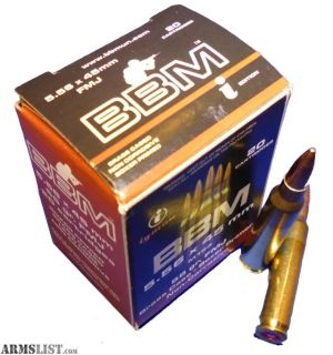 For Sale: BBM 556FM55BA Target Battlepack 5.56 NATO 55 GR Full Metal Jacket Boat Tail 200 Pk/ 1 Cs. no taxes,no credit card fees, Flat rate shipping is $14.95 for unlimited ammunition