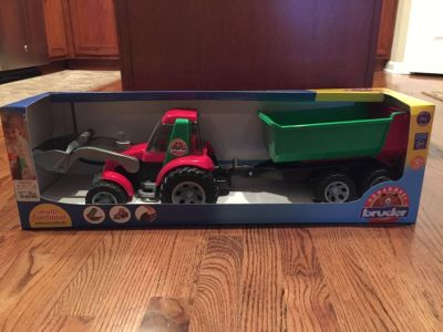 NIB Bruder Tractor with Trailer
