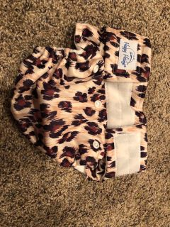 Happy Heiny's Happy Heinys ONEderful Organic All in One Cloth Diaper - Snap - Chetah. Perfect Like New Condition
