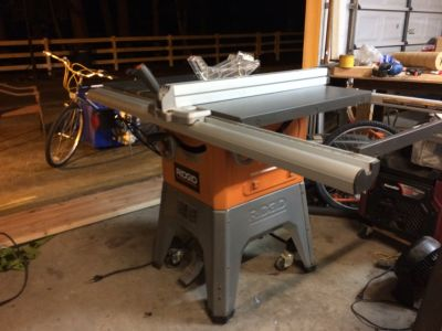 RIDGID Cast Iron Table Saw