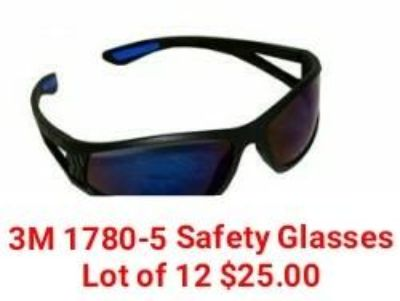 These are 3M model 1780-5 wrap around, safety glassed. Retail $15.00 a pair. Great for ebay sellers