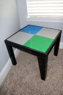 """Homemade Lego table (for small Legos OR """"Duplo"""" size)"""