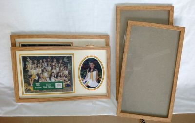 """New Oak Wood Picture Frames 10""""x18"""" (4 available)"""