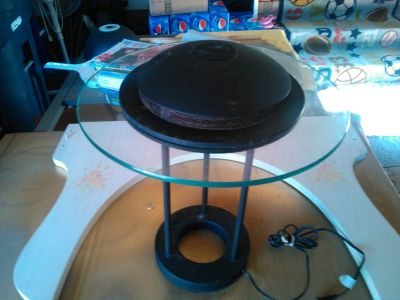 Lamp and table combo