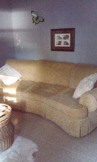 gold broyhill couch