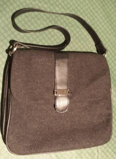 Charcoal Gray Black Wool Purse