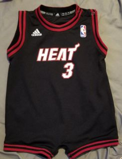 Authentic Miami Heat Dwayne Wade Baby Jersey--24 Months