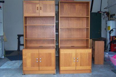2 Teak cabinets