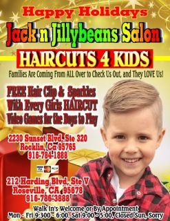 Jack n Jillybeans Salon HAIRCUTS 4 Kids 786-3888