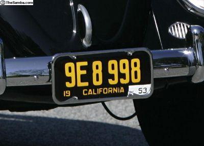 Vintage Chrome License Plate Frames