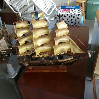 US Constitution Model Ship. L26 H24