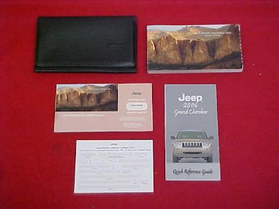 Sell 2006 JEEP GRAND CHEROKEE ORIGINAL OWNERS MANUAL SERVICE GUIDE KIT 06 motorcycle in Leo, Indiana, US, for US $34.99