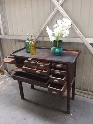 Antique Watch or Jewelry Makers Cabinet