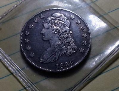 Rare 1835 Capped Bust Half Dollar.