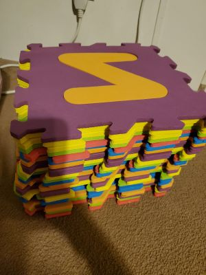 Alphabet Styrofoam put together blocks. all there and in good condition.