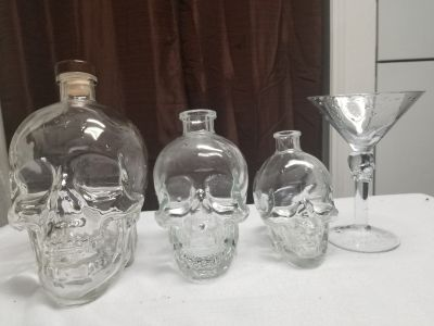 Skull bottle collection