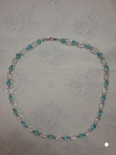 Blue and white crystals