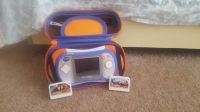 Vtech Mobi Go 2 w/case and 2 games