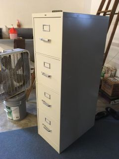 Hon brand 4 drawer filing cabinet 4 4 t x 2 1 d x 1 3 w, pu only, 1st come 1st serve, see 2nd pic