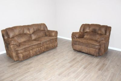 Leather Sofa and Over-sized Chair reclining set by Lane Furniture