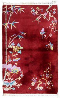 Handmade antique Art Deco Chinese rug, 1B604