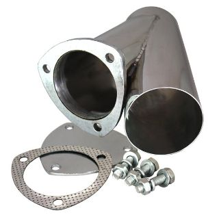 "Purchase QTP 10350 3.5"" 3-1/2"" Stainless Steel Exhaust Cutout Y-Pipe With Cap motorcycle in Suitland, Maryland, US, for US $58.95"