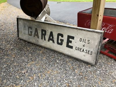 VERY Old GARAGE sign!