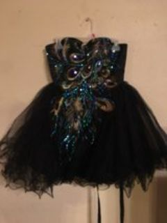 short one of a kind off the shoulder homecoming dress