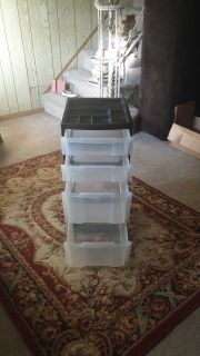 4 Drawer Wheeled Storage Unit