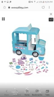 My life doll, pet grooming truck, accessories and doll