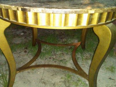 Fuax marble table w/ 4 chairs