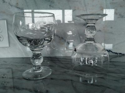 Set Of Two Glass Chalices