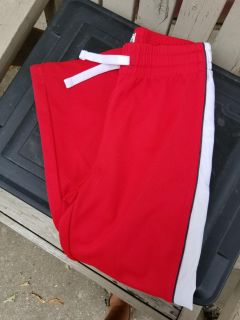BOYS CHILDRENS PLACE LOUNGE PANTS (LIKE NEW) RED W WHITE STRIPES