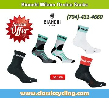 Winter Sale 2018 | Bianchi Milano Men's Cycling Socks - 704-431-4660