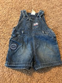 3-6M boys overall jean shorts