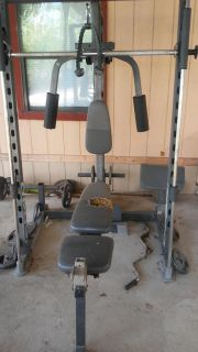 Gym and lot of Weights