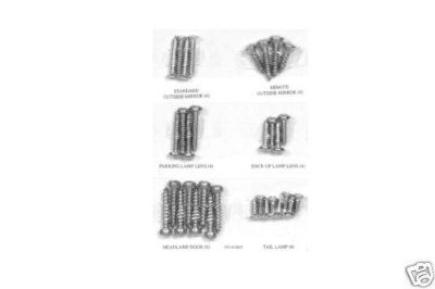 Purchase 1965-66 FORD MUSTANG STAINLESS EXTERIOR TRIM SCREW KIT motorcycle in Lawrenceville, Georgia, US, for US $15.95