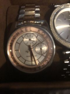 2 authentic Michael Kors watches